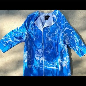 Light blue and white floral jacket